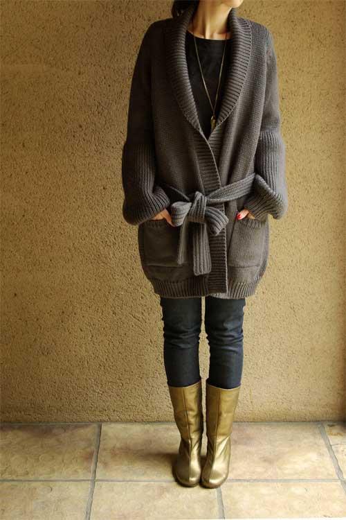 Gros gilet en laine femme zara