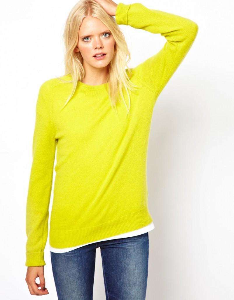 vente chaude en ligne 08482 01208 pull jaune citron femme
