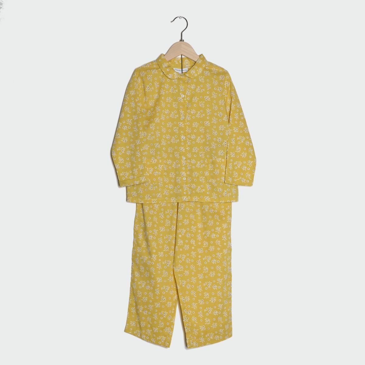 ensemble-pyjama-fille-jaune