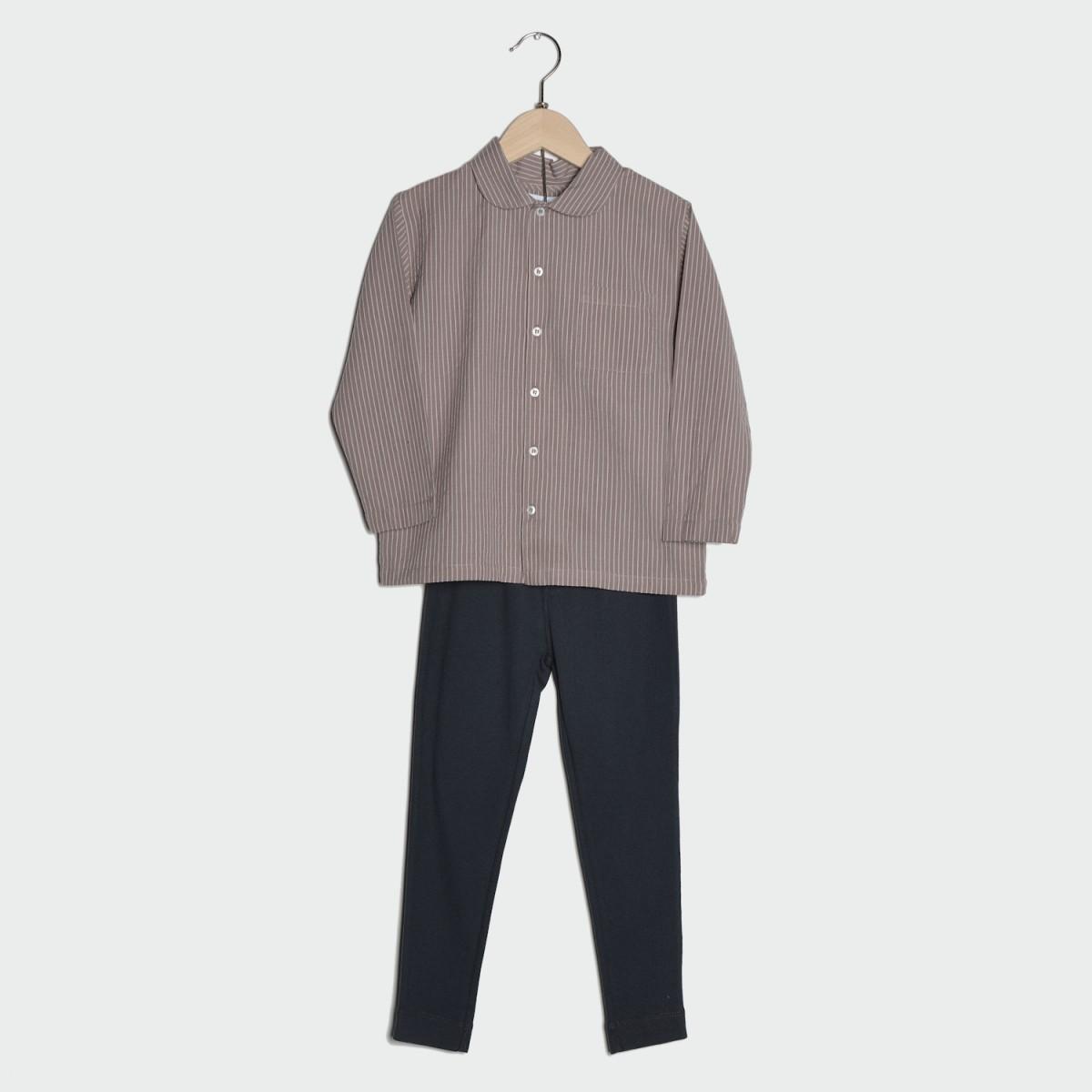 haut-de-pyjama-garcon-marron-