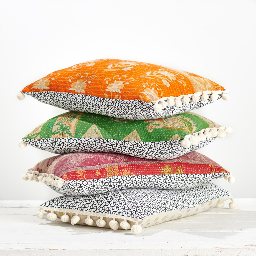Kantha_and_Block_Printed_Cushion_with_Pom_Poms_11_1024x1024